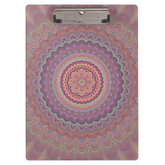 Geometrische Mandala des Hippie Klemmbrett
