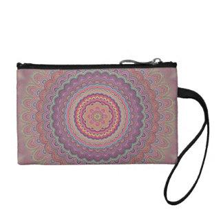 Geometrische Mandala des Hippie Münzbörse