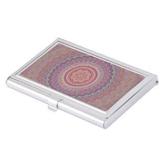 Geometrische Mandala des Hippie Visitenkarten Dose