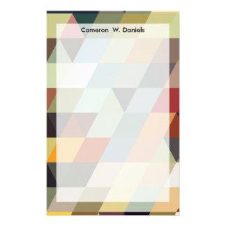 Geometrische Mehrfarbendreiecke der Muster-| Individuelles Druckpapier