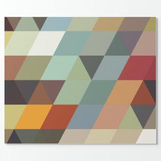 Geometrische Mehrfarbendreiecke der Muster-| Geschenkpapier