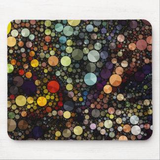 Geometrische Mehrfarbenkreise der Muster-| Mauspad