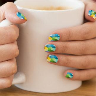 Geometrische modische minx nagelkunst