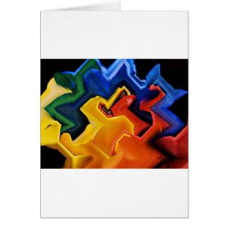 Geometrische multi Farben Karte