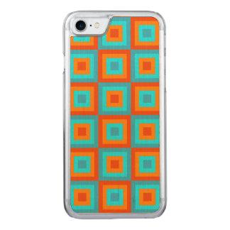Geometrische Muster-FarbTürkis-Orange Carved iPhone 8/7 Hülle