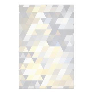 Geometrische Muster | gelbe und blaue Dreiecke Individuelle Büropapiere