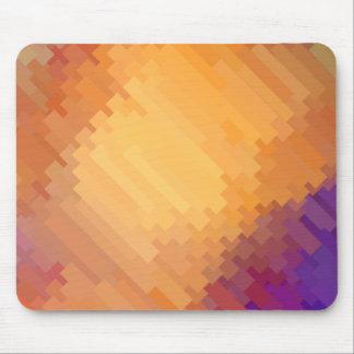Geometrische Muster | lila und Orangen-Streifen Mauspads