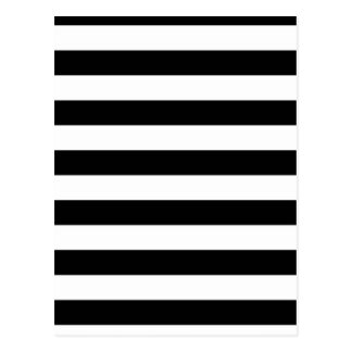 Geometrische Muster-Schwarzweiss-Streifen Postkarte