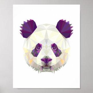 Geometrische nordische Art des Pandabären Poster