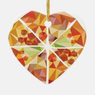 Geometrische Pizza Keramik Ornament