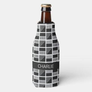 Geometrische Quadrat-Nameflasche u. kann Flaschenkühler