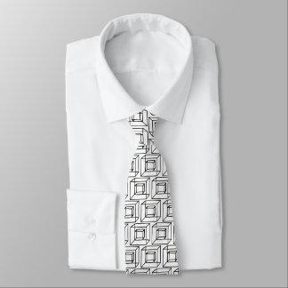 Geometrische Quadrate Bedruckte Krawatte
