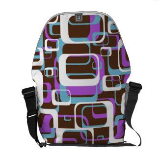 Geometrische Quadrate Kurier Taschen