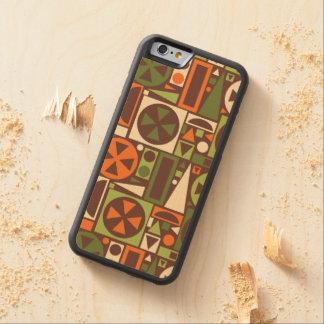 Geometrische Retro 50er Mitte- des Bumper iPhone 6 Hülle Ahorn