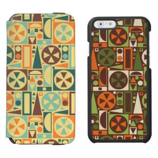 Geometrische Retro 50er Mitte des Jahrhunderts Incipio Watson™ iPhone 6 Geldbörsen Hülle