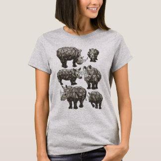 Geometrische Rhinos T-Shirt
