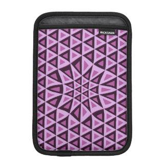 Geometrische rosa Dreiecke iPad Hülsen-Modemädchen