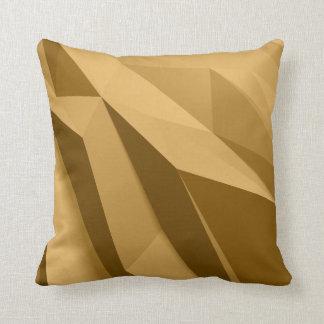Geometrische Schatten des Goldkissens Kissen