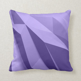 Geometrische Schatten des lila Kissens Kissen