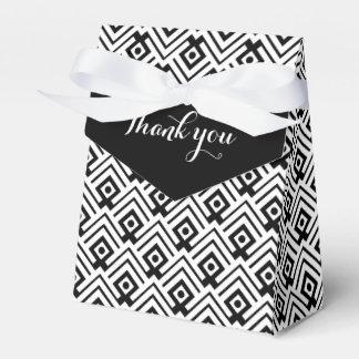 Geometrische Schwarzweiss danken Ihnen Geschenkkartons