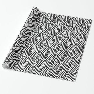 Geometrische Schwarzweiss-Illusion Geschenkpapier