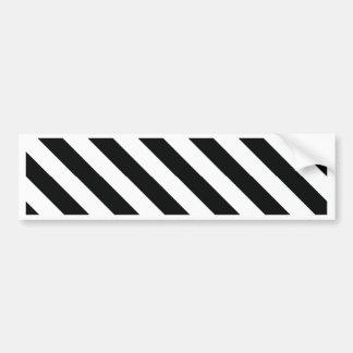 Geometrische Schwarzweiss-Linie Muster Autoaufkleber