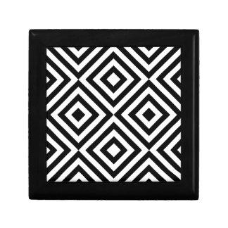 Geometrische Schwarzweiss-Linie Muster Schmuckschachtel