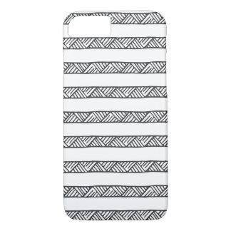 Geometrische Schwarzweiss-Streifen iPhone 7 Hülle