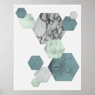 Geometrische, skandinavische poster