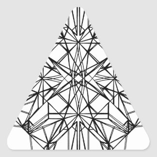 geometrische Symmetrie Dreieckiger Aufkleber