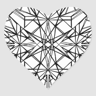 geometrische Symmetrie Herz-Aufkleber