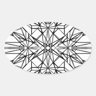 geometrische Symmetrie Ovaler Aufkleber