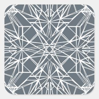 Geometrische Symmetrie Quadratischer Aufkleber
