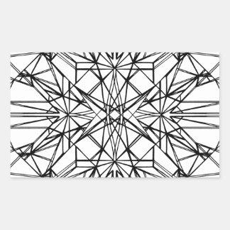 geometrische Symmetrie Rechteckiger Aufkleber