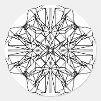 geometrische Symmetrie Runder Aufkleber