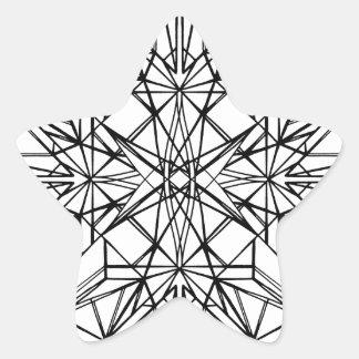geometrische Symmetrie Stern-Aufkleber