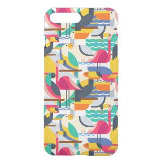 Geometrische tropische Vögel iPhone 8 Plus/7 Plus Hülle