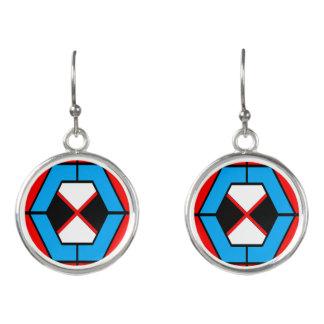 Geometrische vibrierende Ohrringe