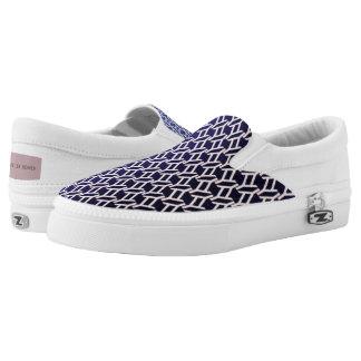 """geometrische"" violette Leinwandbeschaffenheit Slip-On Sneaker"