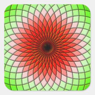 Geometrische Wassermelone Quadratischer Aufkleber