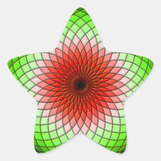 Geometrische Wassermelone Stern-Aufkleber