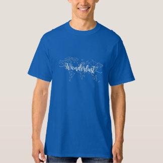 Geometrische Weltkarte des Wanderlust T-Shirt