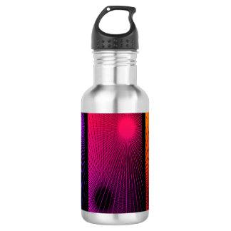 Geometrische Zusammenfassung Edelstahlflasche