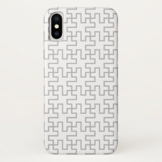Geometrischer abstrakter Boden-Entwurf iPhone X Hülle