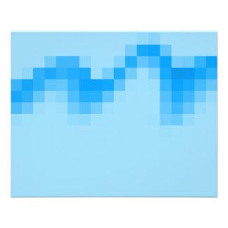 Geometrischer abstrakter Entwurf im coolen Blau 11,4 X 14,2 Cm Flyer