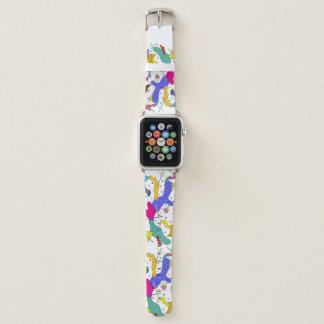 Geometrischer abstrakter Expressionismus-Kubismus Apple Watch Armband