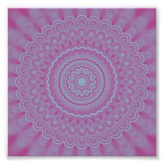 Geometrischer Blume Mandala Fotodruck