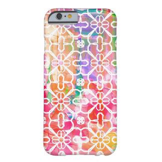Geometrischer Blumen iPhone kaum dort Zellen-Fall Barely There iPhone 6 Hülle