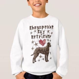 Geometrischer Chesapeake Bay-Retriever Sweatshirt