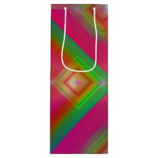 Geometrischer Entwurf Geschenktüte Für Weinflaschen